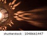 Arabian Lantern On Wooden Floo...