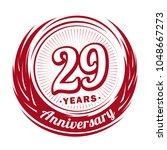 29 years anniversary.... | Shutterstock .eps vector #1048667273