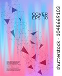 chemical cover page layout.... | Shutterstock .eps vector #1048669103