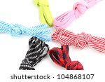 colorful shoelaces isolated on... | Shutterstock . vector #104868107