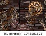 vector seamless pattern.... | Shutterstock .eps vector #1048681823