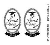 graduation emblem  badge design ...   Shutterstock .eps vector #1048688177
