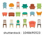 collection of different types... | Shutterstock .eps vector #1048690523
