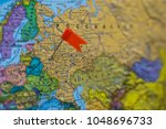 geography of location of moscow ... | Shutterstock . vector #1048696733