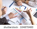 financial paper charts and...   Shutterstock . vector #104870483