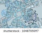 vector seamless pattern.... | Shutterstock .eps vector #1048705097