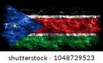 south sudan smoke flag | Shutterstock . vector #1048729523