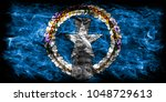 northern mariana islands smoke... | Shutterstock . vector #1048729613