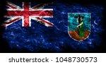 montserrat smoke flag  british... | Shutterstock . vector #1048730573