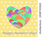 gift card  happy mother's day ... | Shutterstock .eps vector #1048743263