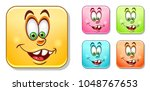 happy silly laughing emoji face....   Shutterstock .eps vector #1048767653