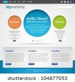 modern creative website...   Shutterstock .eps vector #104877053