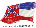 a grunge flag of mississippi in ... | Shutterstock .eps vector #1048773713