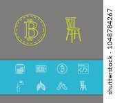 package icons set with chair ...