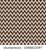 horizontal gold zigzag stripes... | Shutterstock .eps vector #1048813397