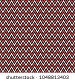horizontal red zigzag stripes... | Shutterstock .eps vector #1048813403