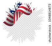 waving flag united states of... | Shutterstock .eps vector #1048814873