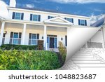 house photo page corner... | Shutterstock . vector #1048823687