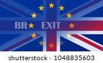 brexit blue european union eu... | Shutterstock .eps vector #1048835603