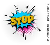 stop  no hand drawn pictures... | Shutterstock .eps vector #1048844843
