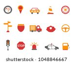 orange and red color traffic... | Shutterstock .eps vector #1048846667