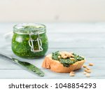 close up view of baguette bread ... | Shutterstock . vector #1048854293