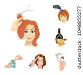 manipulation by hands cartoon... | Shutterstock .eps vector #1048855277