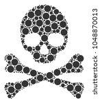 skull mosaic organized of...   Shutterstock .eps vector #1048870013