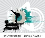martial arts. high kick | Shutterstock .eps vector #1048871267