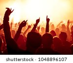 concert crowd in front of... | Shutterstock . vector #1048896107