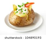 Baked Potato Filled With Sour...