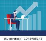 best worker businessman.... | Shutterstock .eps vector #1048905143