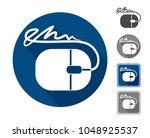 electronic signature  icon a... | Shutterstock .eps vector #1048925537