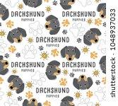 dachshund   dog breed... | Shutterstock .eps vector #1048937033
