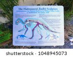 Small photo of HADDONFIELD, NJ -17 MAR 2018- Excavated in 1858 in Haddonfield by William Foulke, the Hadrosaurus skeleton was at the time the largest dinosaur fossil discovered. Haddie is the NJ state dinosaur.