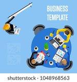 business template vector... | Shutterstock .eps vector #1048968563