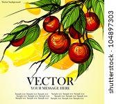 beautiful delicious cherries ... | Shutterstock .eps vector #104897303