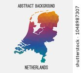 netherlands holland map in... | Shutterstock .eps vector #1048987307