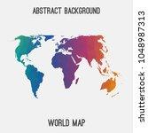 world international map in... | Shutterstock .eps vector #1048987313