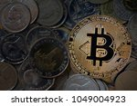 bitcoins among others ...   Shutterstock . vector #1049004923