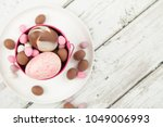 pink and milk chocolate easter... | Shutterstock . vector #1049006993