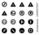 solid vector icon set   no... | Shutterstock .eps vector #1049027507