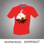vector. men's t shirt design | Shutterstock .eps vector #104903627