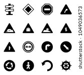 solid vector icon set   road... | Shutterstock .eps vector #1049036573
