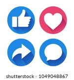thumbs up and heart icon with...   Shutterstock .eps vector #1049048867