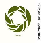 leaves label abstract design.... | Shutterstock .eps vector #1049057873