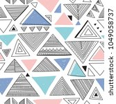 vector seamless pattern with... | Shutterstock .eps vector #1049058737
