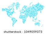 ap of world with trendy... | Shutterstock .eps vector #1049059373