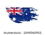 vintage australian flag... | Shutterstock .eps vector #1049060903