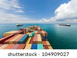 Cargo Ships Entering One Of Th...